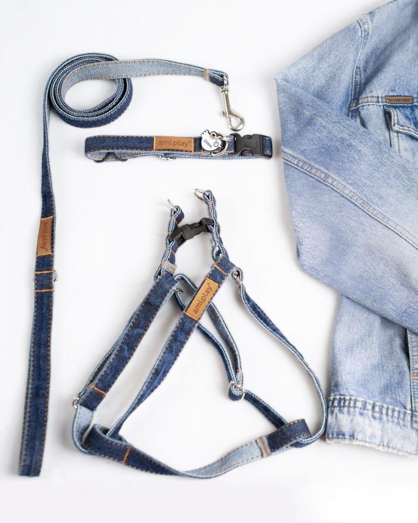 flat lay komplet jeansowy Amiplay